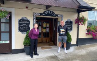 Rory Best and Theresa outside Cawkeys